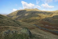 Looking over Wrynose Pass to Cold Pike (12 Oct 2014)