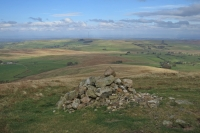 The view north from Longlands Fell summit (14 Oct 2014)