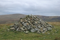 Brae Fell's summit with High Pike behind (14 Oct 2014)