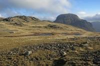 Looking over Kirkfell Tarn to Great Gable (18 Nov 2014)