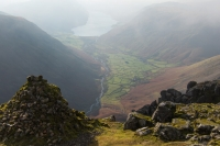 Wasdale Head from the Westmorland Cairn (18 Nov 2014)