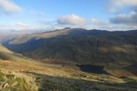 Styhead Tarn with Seathwaite Fell and Glaramara behind from Great Gable (18 Nov 2014)
