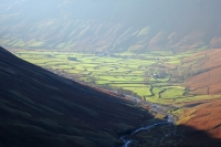 Wasdale Head from the Sty Head path (18 Nov 2014)