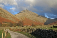 Great Gable from Wasdale Head (18 Nov 2014)