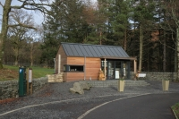 The new information centre in the bottom Aira Force car park (20 Dec 2014)
