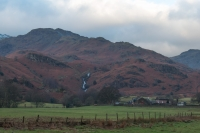 Tarn Crag and Sourmilk Gill from the Easedale Road out of Grasmere (30 Dec 2014)