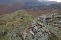The east ridge from Tarn Crag's summit cairn (30 Dec 2014)