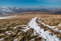 The path to Mungrisdale Common from Blencathra (15 Feb 2015)
