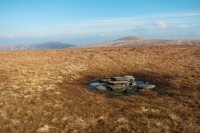 Mungrisdale Common's summit cairn (15 Feb 2015)