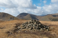 Middle Dodd with Red Screes behind from Hartsop Dodd's summit cairn (11 Apr 2015)