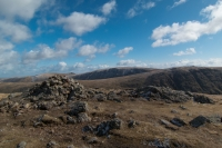 Stony Cove Pike's summit cairn (11 Apr 2015)