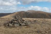Gray Crag's summit cairn (11 Apr 2015)
