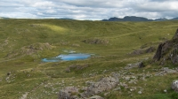 Looking down on Dalehead Tarn from the ascent of Dale Head (30 Jul 2015)